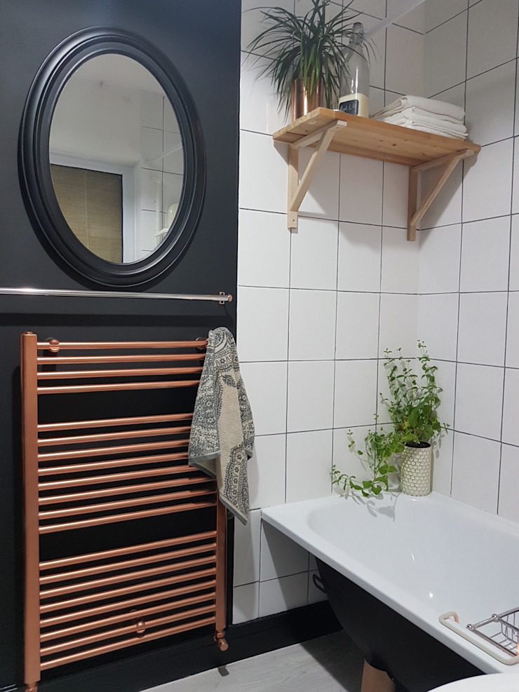 Bathroom makeover Industrial style bathroom by THE FRESH INTERIOR COMPANY Industrial