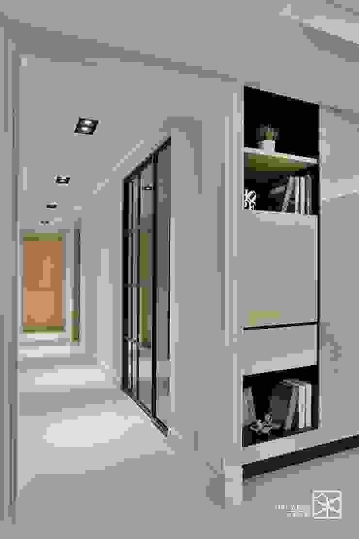 走道 經典風格的走廊,走廊和樓梯 根據 禾廊室內設計 古典風