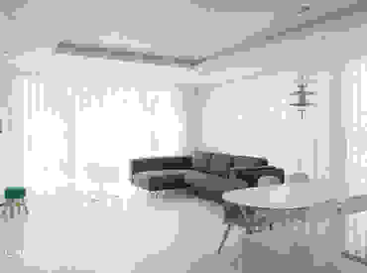 카라멜 디자인 스튜디오 现代客厅設計點子、靈感 & 圖片 White