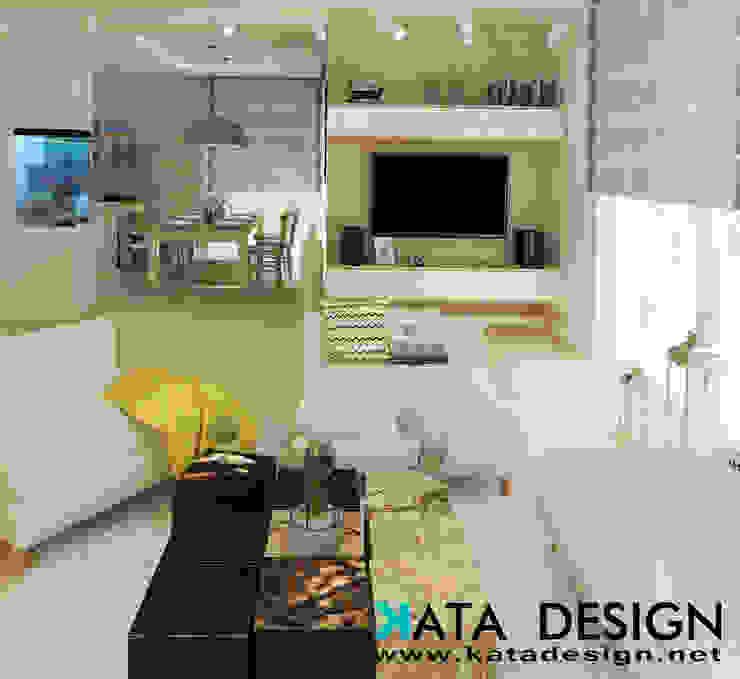 Ruang Keluarga Modern Oleh Kata Design Modern Kayu Wood effect
