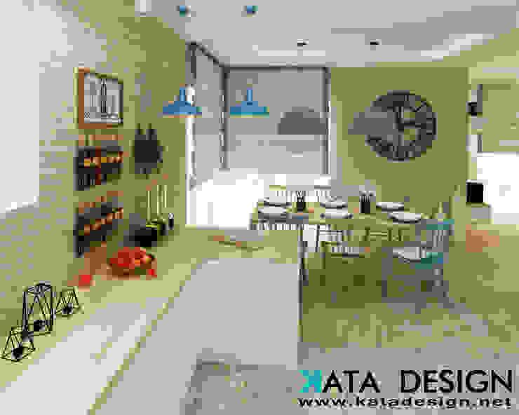 Dapur Gaya Rustic Oleh Kata Design Rustic Batu Bata