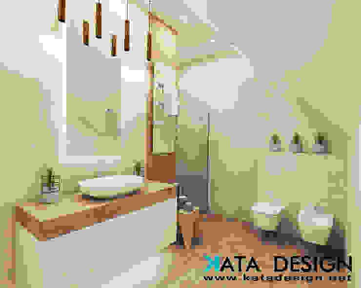 Kamar Mandi Modern Oleh Kata Design Modern Kayu Wood effect