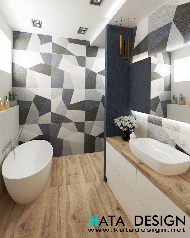 Bagno moderno di Studio4Design Moderno Ceramica