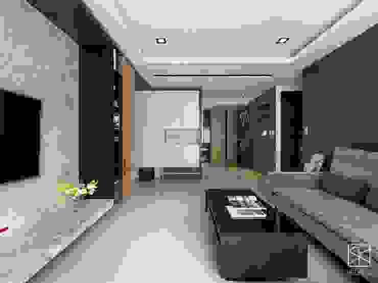 Salas de estilo  por 禾廊室內設計