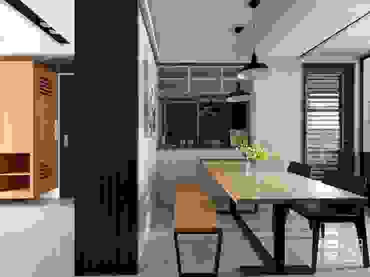 Sala da pranzo in stile  di 禾廊室內設計, Minimalista