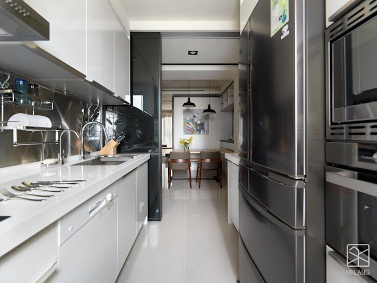 Cocinas de estilo  por 禾廊室內設計