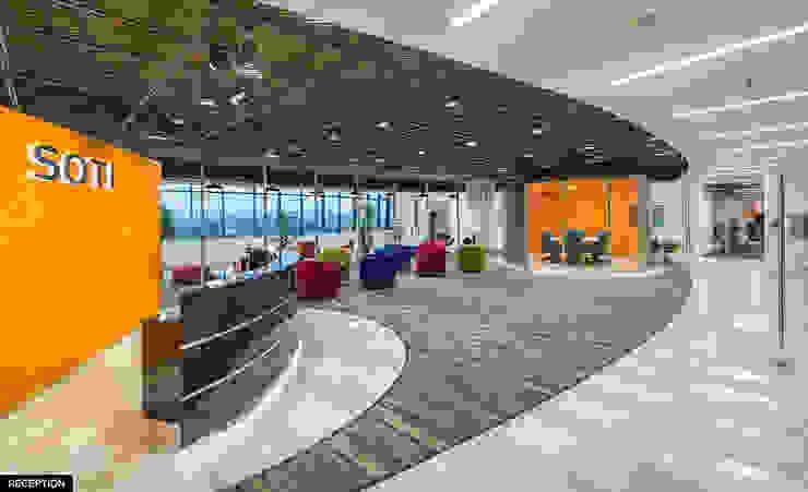 Reception Area: modern  by Basics Architects,Modern