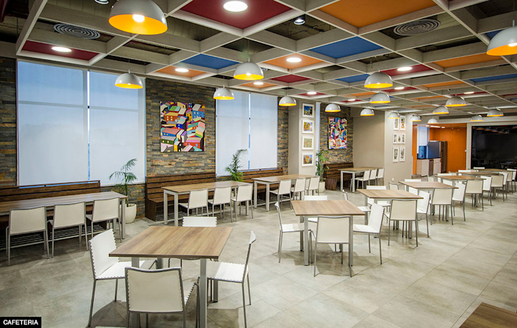 Cafeteria: modern  by Basics Architects,Modern