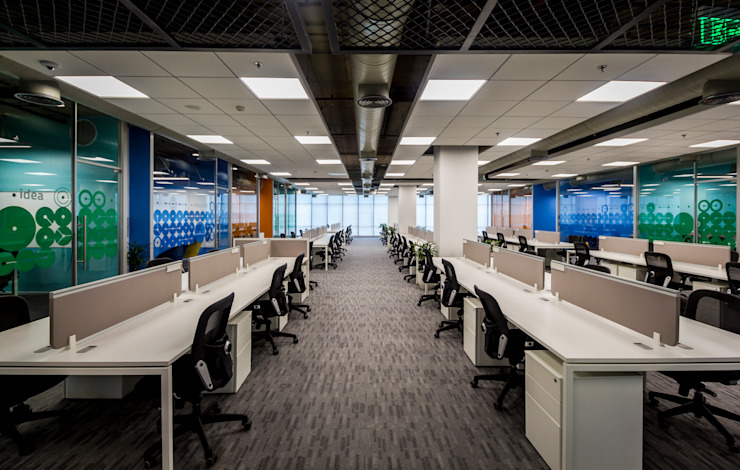 Workplace : modern  by Basics Architects,Modern