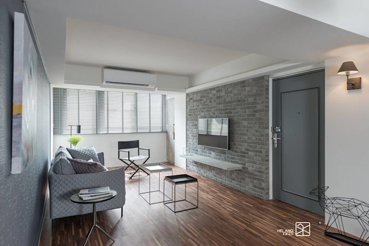 Salas de estar minimalistas por 禾廊室內設計 Minimalista