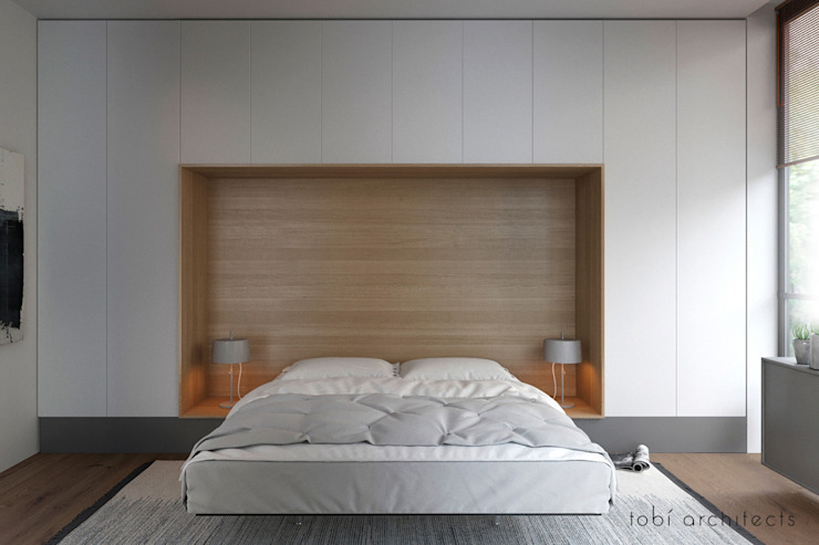 Minimalist bedroom by Tobi Architects Minimalist