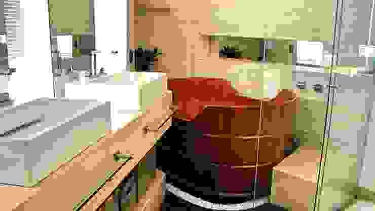 Banheiros  por STUDIO AGUIAR E  DINIS