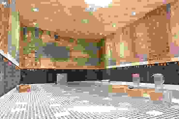 公共汗蒸房 根據 萩野空間設計 日式風、東方風 木頭 Wood effect