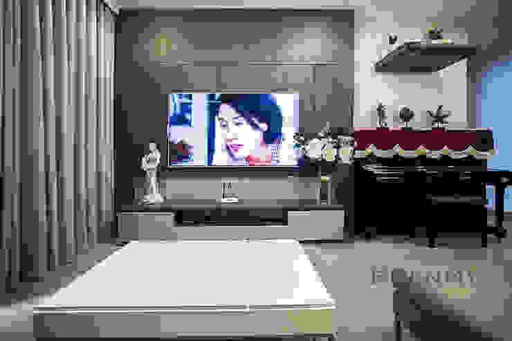 Thiết kế nội thất phòng khách bởi Thương hiệu Nội Thất Hoàn Mỹ Hiện đại