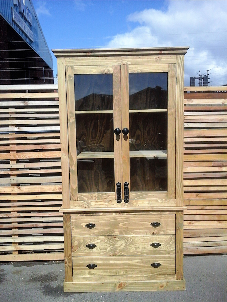 Custom Glass Cabinet with Doors and Drawers: modern  by Eco Furniture Design, Modern Wood Wood effect