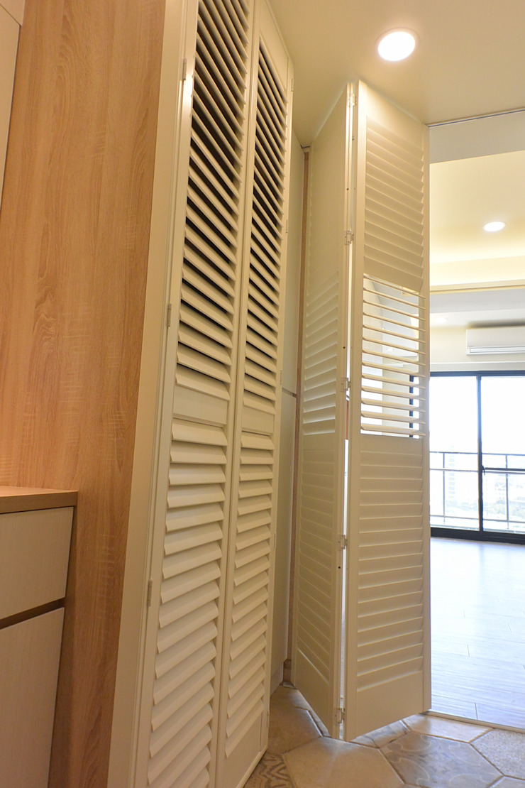 新竹-美棧 斯堪的納維亞風格的走廊,走廊和樓梯 根據 萩野空間設計 北歐風