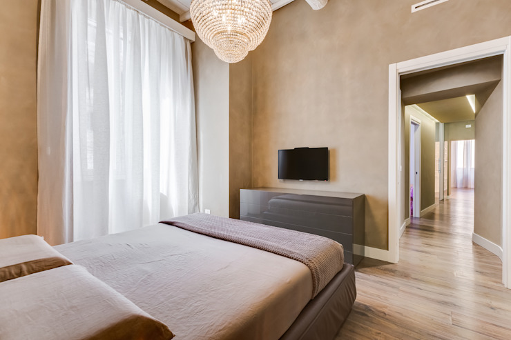 Suburra|contemporany design EF_Archidesign Camera da letto moderna