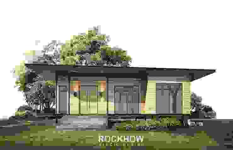 งานบ้านพักตากอากาศ 2ห้องนอน 2ห้องน้ำ 1 ห้องโถงใหญ่ โดย Rockhow Studio Design