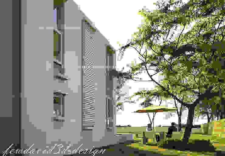 บ้านพักอาศัย 2ชั้น อ.หัวหิน จ.ประจวบคีรีขันธ์ fewdavid3d-design ระเบียง, นอกชาน