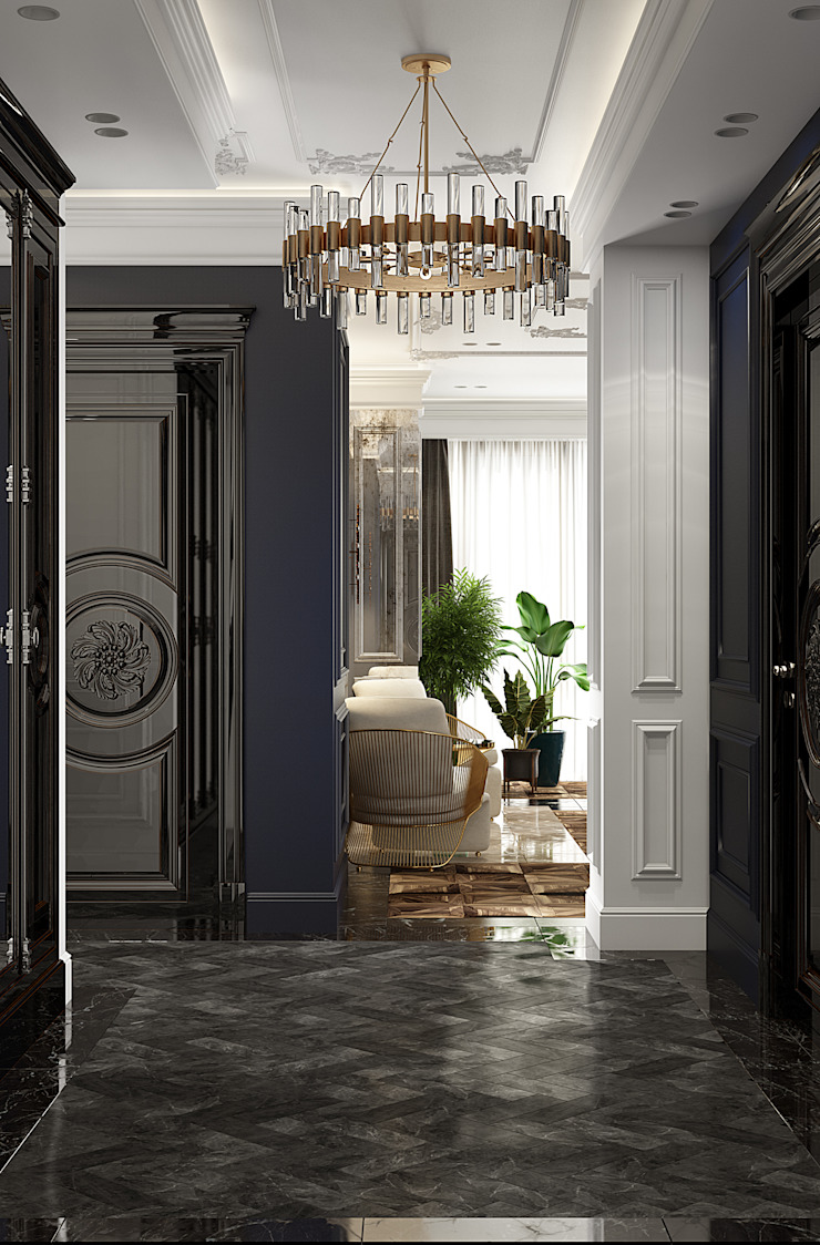 Eclectic style corridor, hallway & stairs by U-Style design studio Eclectic