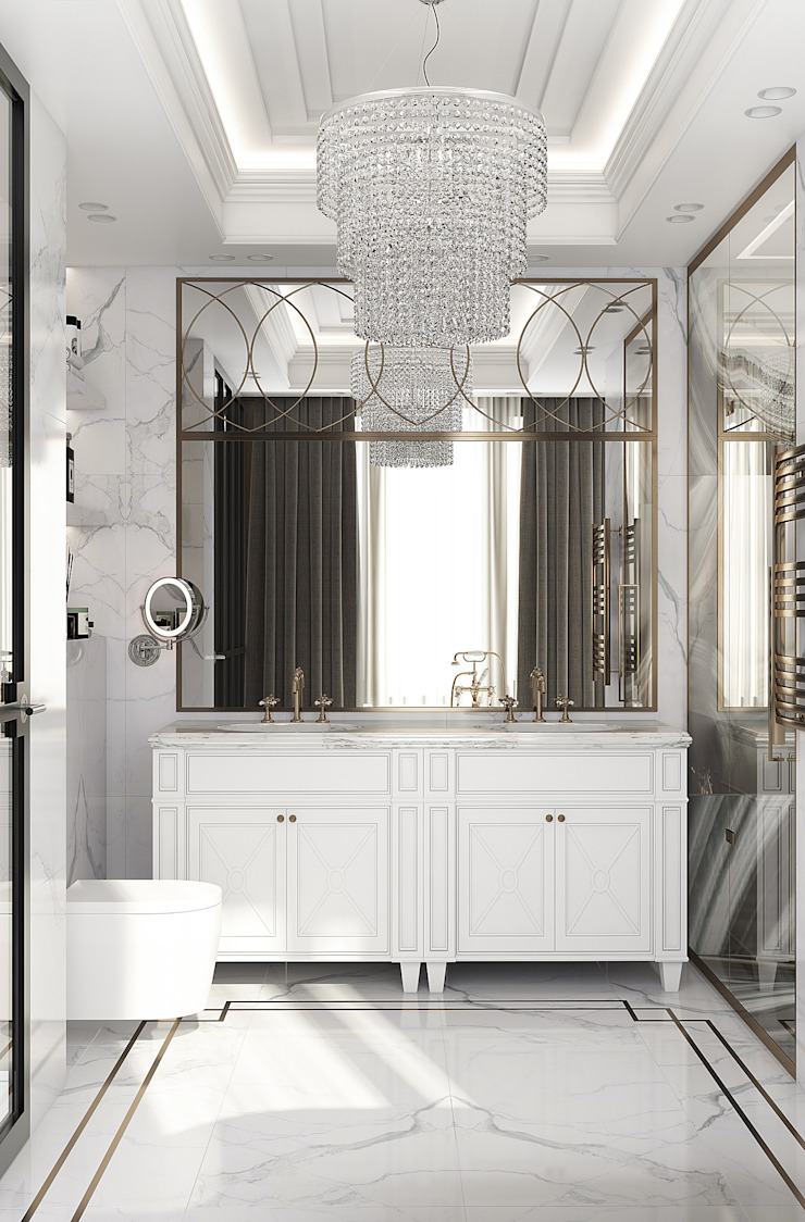 Eclectic style bathroom by YOUSUPOVA Eclectic