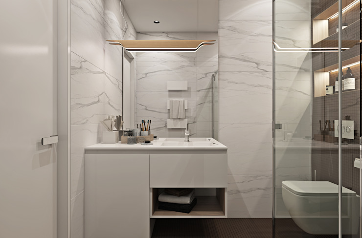 Minimalist bathroom by U-Style design studio Minimalist