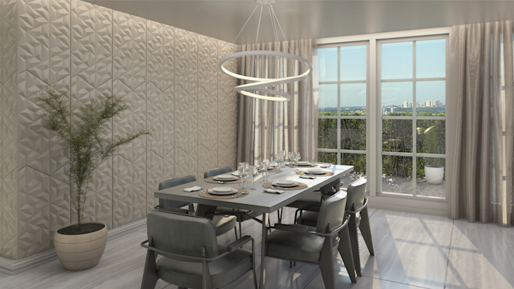 Modern dining room by Gabriela Afonso Modern Wood Wood effect