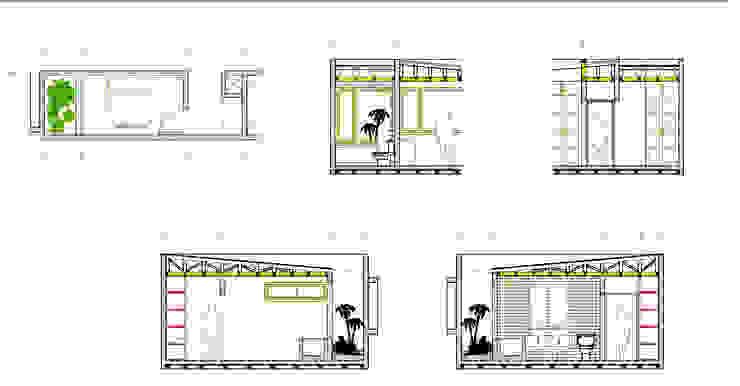 Detalle Baño Suite Proyecto casa BL piedra roja - Chicureo. de MJO ArqDesign Moderno