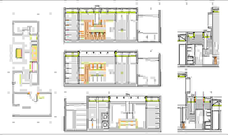Detalle Cocina, Lavadero y Logia. Proyecto casa BL piedra roja - Chicureo. de MJO ArqDesign Moderno