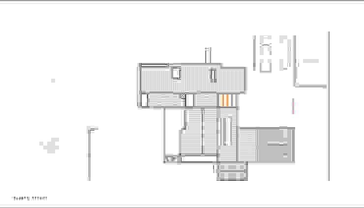Planta Techos. Proyecto casa BL piedra roja - Chicureo. de MJO ArqDesign Moderno