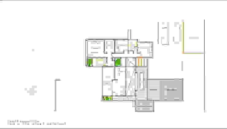 Planta Segundo Piso. Proyecto casa BL piedra roja - Chicureo. de MJO ArqDesign Moderno