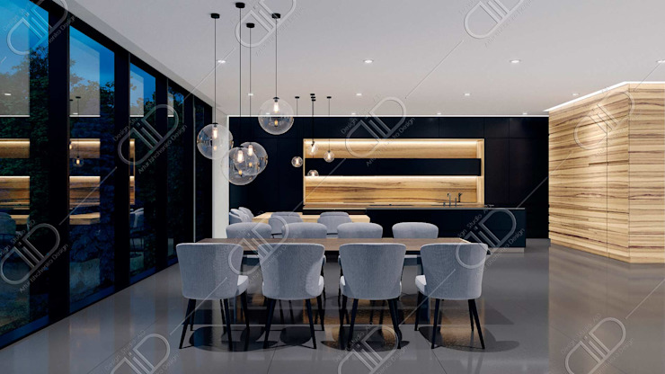 Algonquin Modern dining room by Design Studio AiD Modern