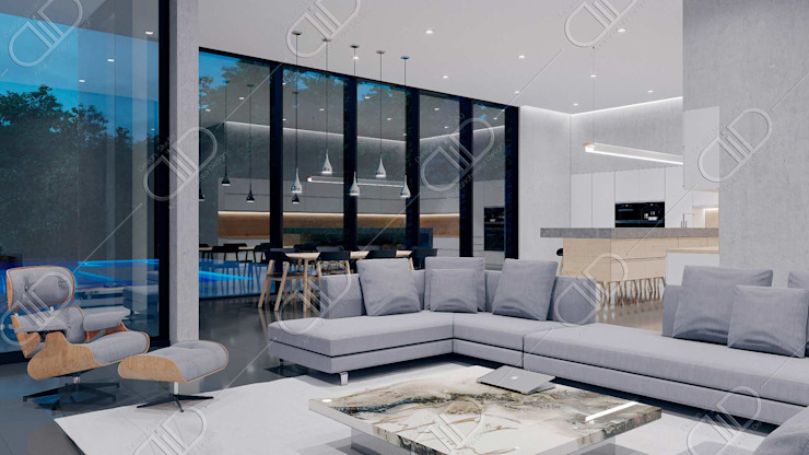 Algonquin Modern living room by Design Studio AiD Modern