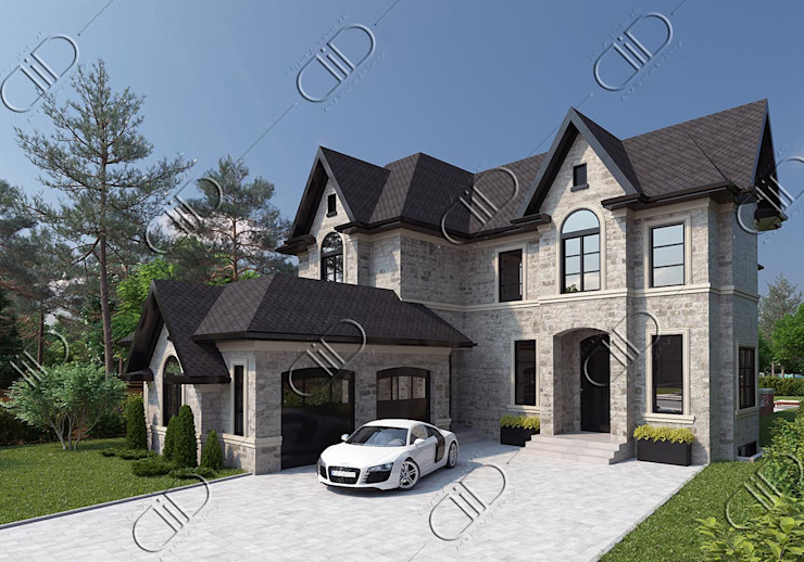 Architectural Design and Visualization Classic style houses by Design Studio AiD Classic