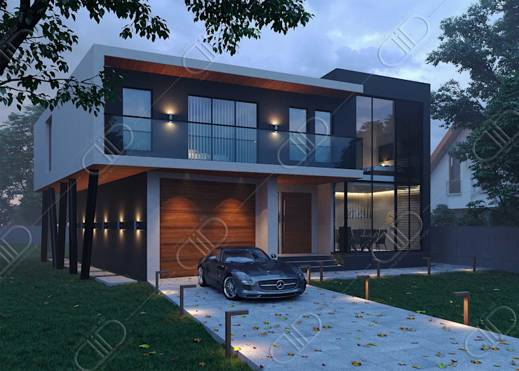 Architectural Design and Visualization Modern houses by Design Studio AiD Modern