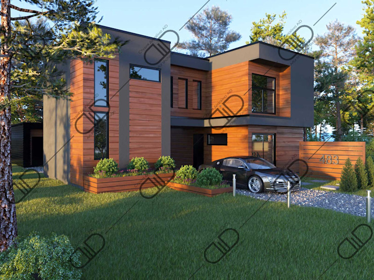 Architectural Design and Visualization Minimalist house by Design Studio AiD Minimalist