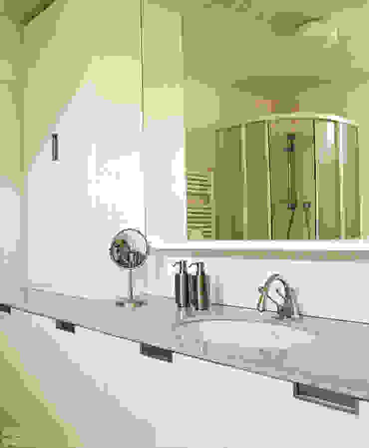 DELFINETTIDESIGN ห้องน้ำ ไม้ White