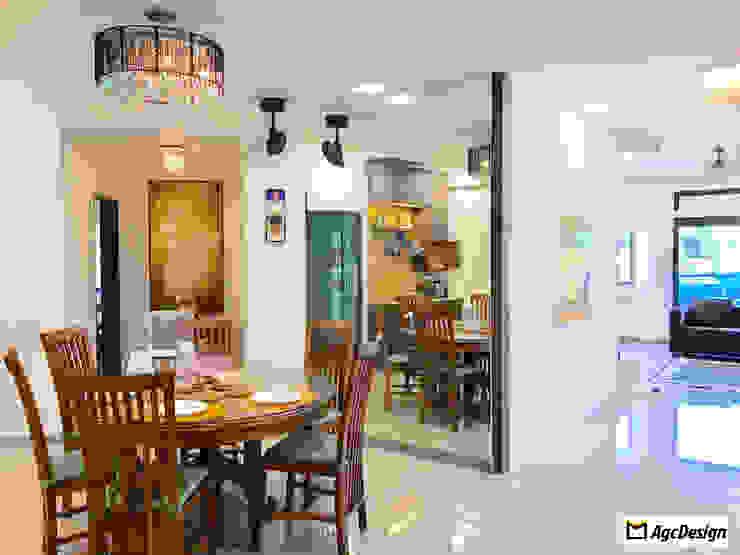Mandarin Gardens Condo Modern dining room by AgcDesign Modern