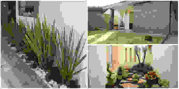 Jardines en la fachada de estilo  por homify, Moderno