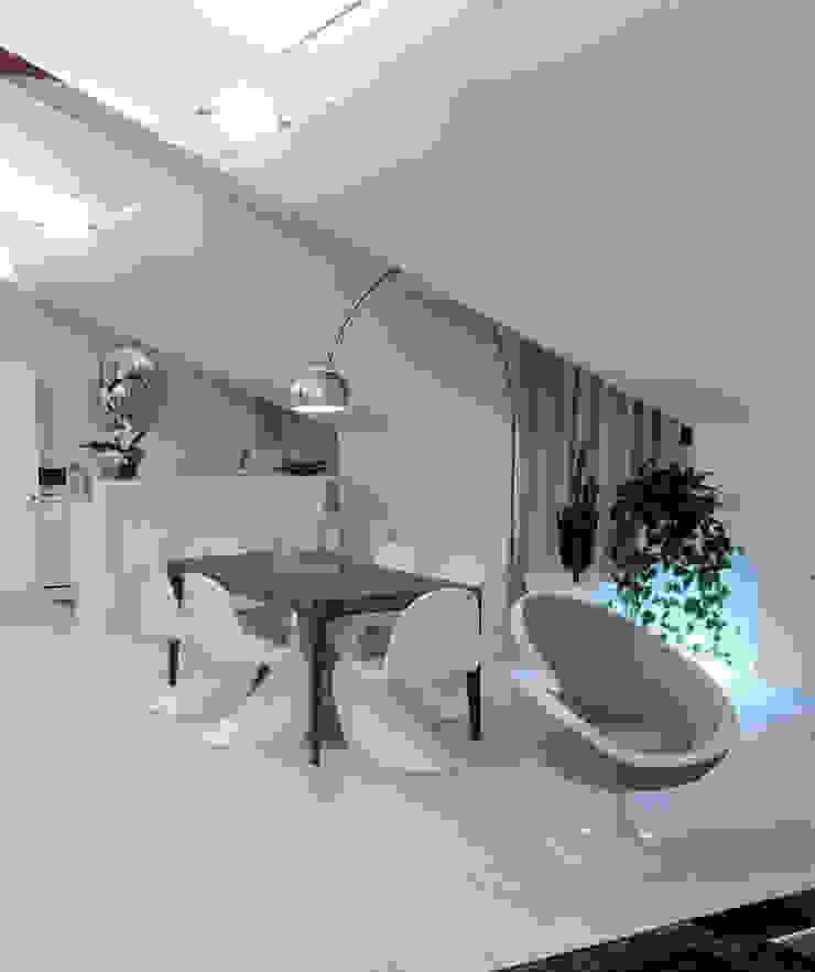 Zona giorno DELFINETTIDESIGN Sala da pranzo moderna Legno Bianco