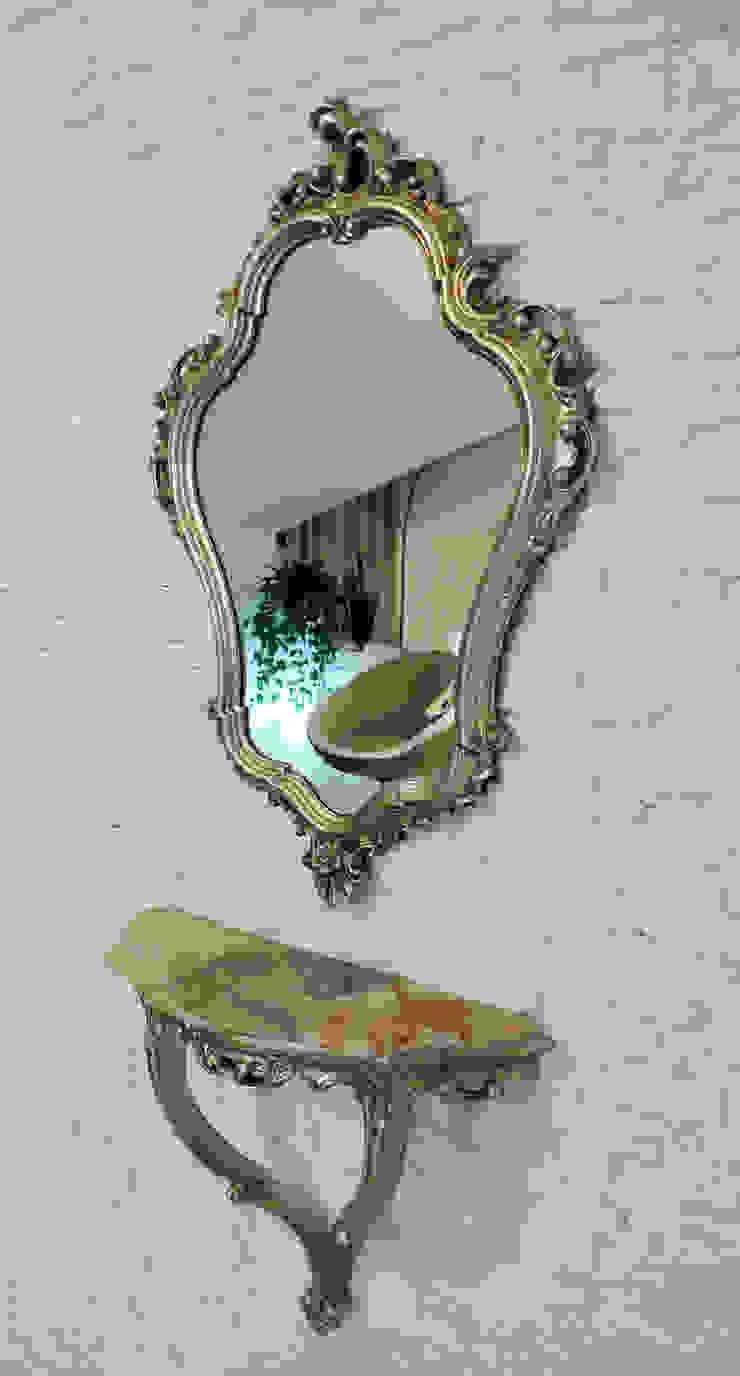 Dettaglio parete in pietra DELFINETTIDESIGN Soggiorno moderno Pietra Bianco