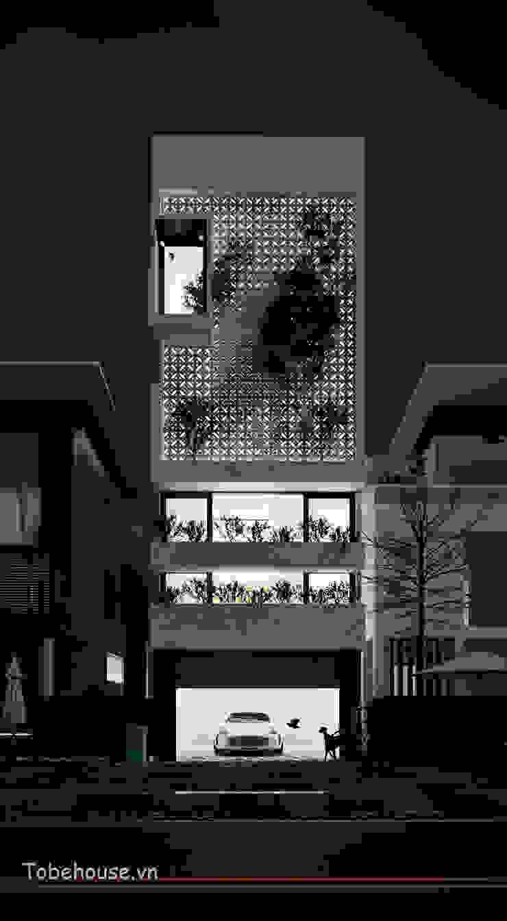 Linh House – Linh Đàm bởi Công ty cổ phần kiến trúc và nội thất Tobehouse Việt Nam Hiện đại