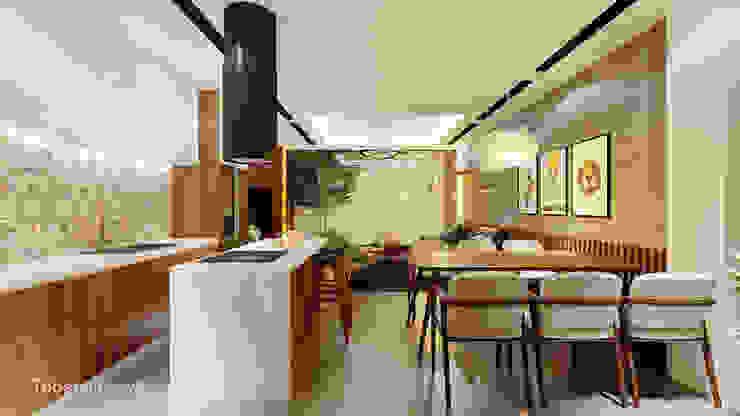 Linh House - Linh Đàm Phòng ăn phong cách hiện đại bởi Công ty cổ phần kiến trúc và nội thất Tobehouse Việt Nam Hiện đại