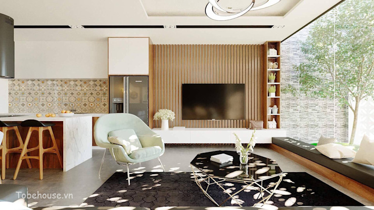 Linh House - Linh Đàm bởi Công ty cổ phần kiến trúc và nội thất Tobehouse Việt Nam Hiện đại