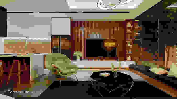 Salas modernas de Công ty cổ phần kiến trúc và nội thất Tobehouse Việt Nam Moderno