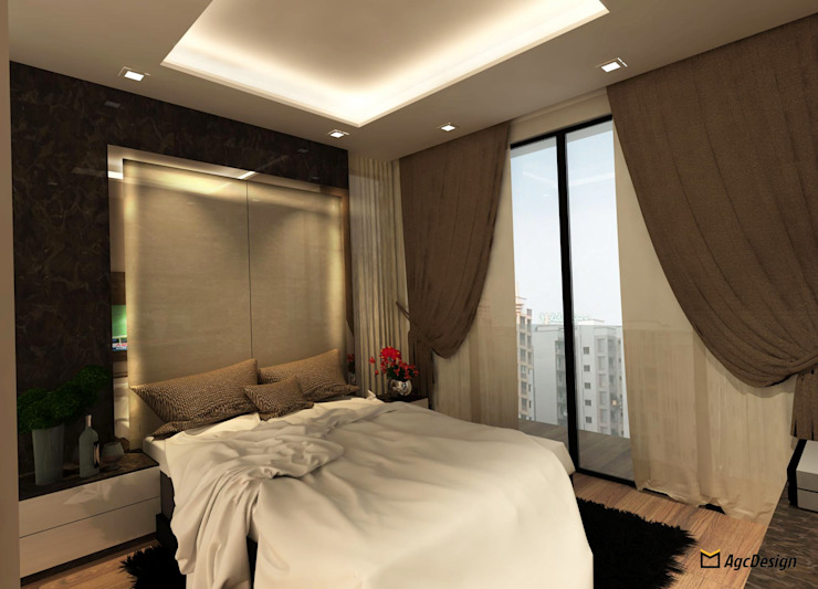 Sea Horizon Condo Modern style bedroom by AgcDesign Modern
