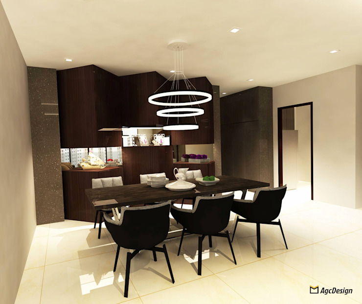 Sea Horizon Condo Modern dining room by AgcDesign Modern