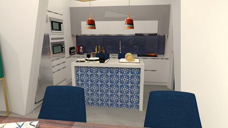 Cuisine moderne par No Place Like Home ® Moderne