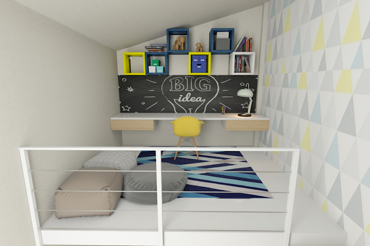 Mezzanine in Boy´s Room No Place Like Home ® Quartos modernos