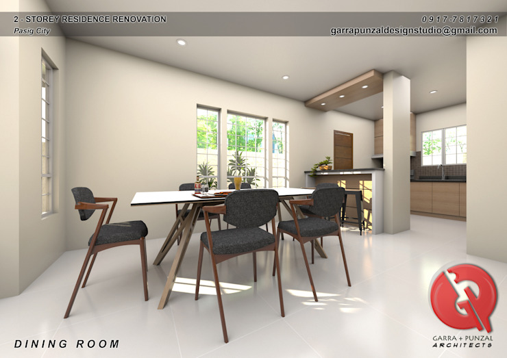 2-Storey Residence Renovation Classic style dining room by Garra + Punzal Architects Classic